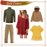 Fall Color Outfit Ideas for Engagement & Family Photoshoots