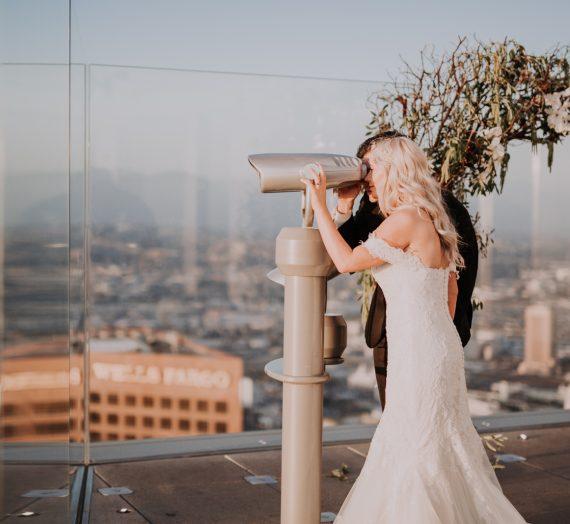Heather & Jordan's Romantic Wedding in the Sky