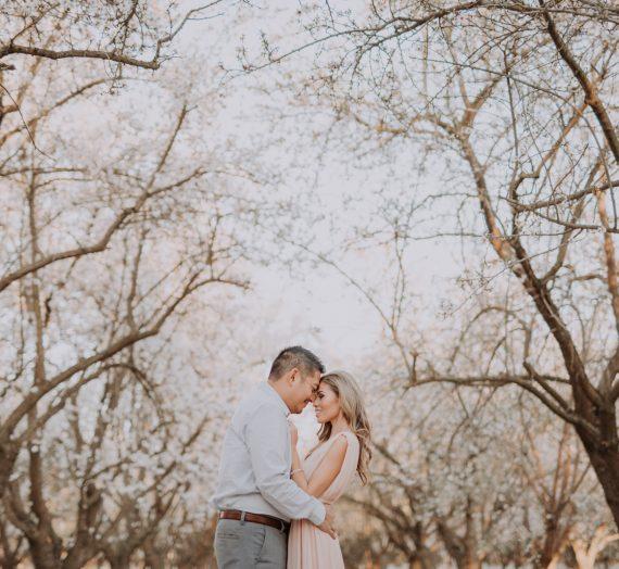 Nadine & Albert Engaged Among Blossoms
